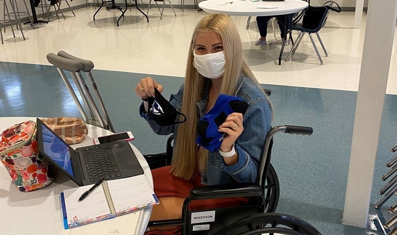 Student in Wheelchair at table